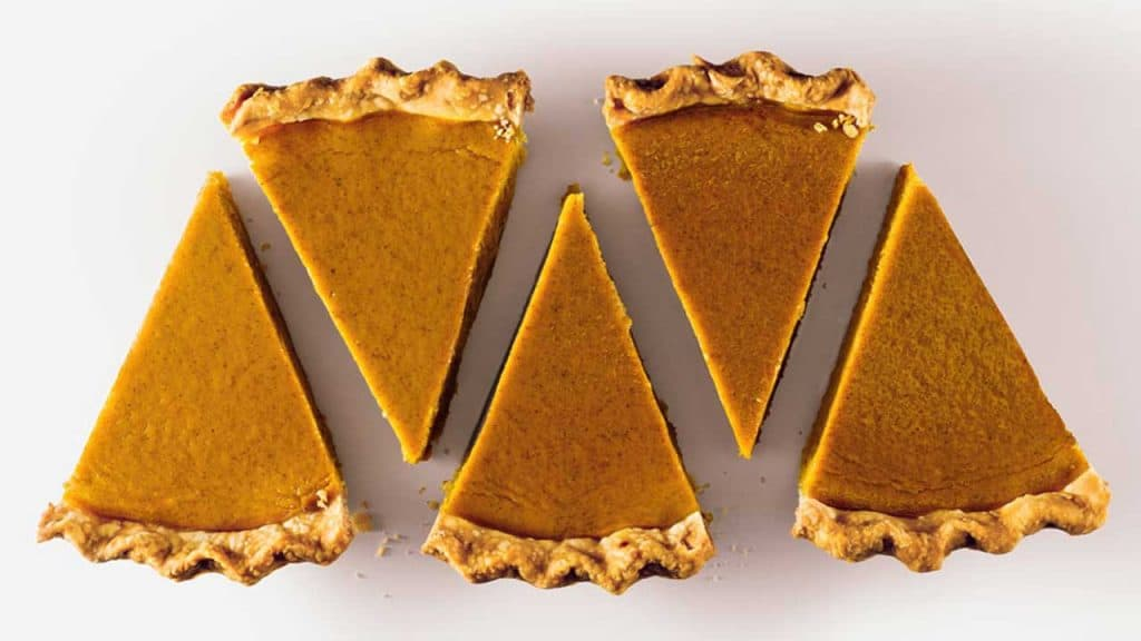 pumpkin pie slices served at Business Meeting