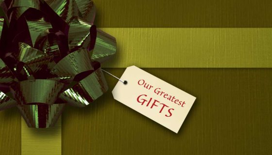 green package tag our greatest gifts