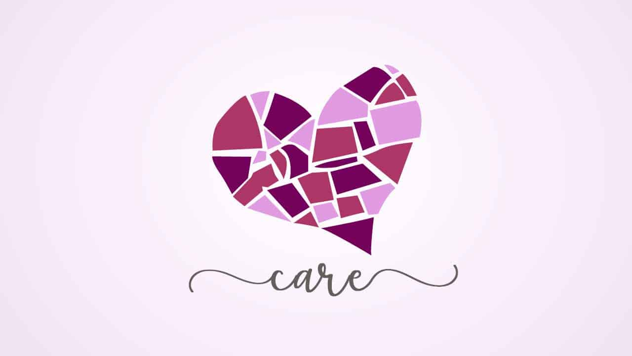 mosaic heart for new year care